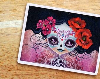 Amelia Calavera Sugar Skull Die-cut Vinyl Sticker Decal