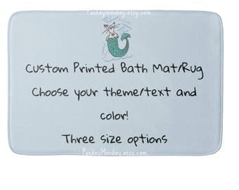 Custom your theme bath mat bath rug plush memory foam beach bathroom mat for floor 3 sizes made to order personalized your colors and theme