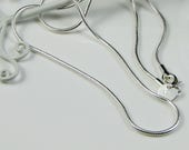 Sterling Silver Snake Chain Necklace 2mm 16 18 20 22 24 inch with Clasp; Mens Women Silver Chain; Pendant finished Chain; Hexagon Chain