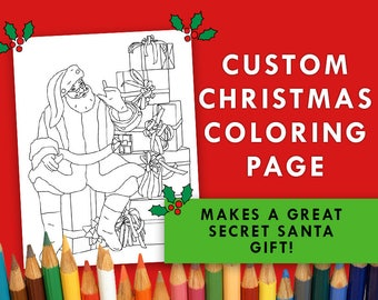 custom coloring book page custom illustration digital file custom printable coloring book page - Custom Coloring Book