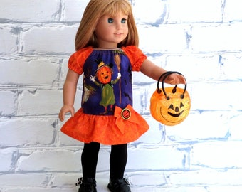 18 inch Doll Clothes Halloween Dress and Treat Bag