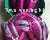 Beginner Weaving Kit, Raspberry Towel Kit, Weaving Loom Kit, DIY Weaving Kit, How to Weave Kit, Loom Weaving, Pre-wound Warp, Handweaving