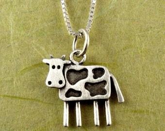 Tiny cow necklace / pendant