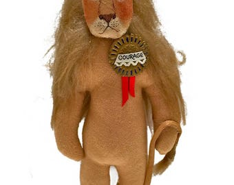 cowardly LION collectible Gladys Boalt Christmas ornament signed Wizard of OZ series figure Holiday decoration Lion collectible