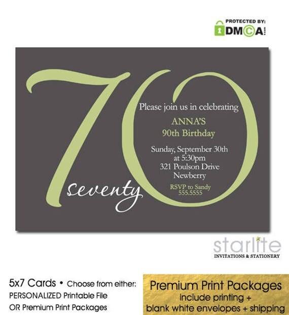 70th birthday invitation 70th birthday invite for women any age il570xn filmwisefo