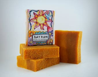 Bay Rum Handmade Soap, FREE SHIPPING in usa, All Natural, Made in the usa, American Made Gifts