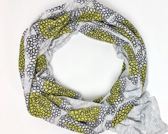 Bundle Up Yellow Cluster Scarf- Hand Printed