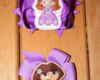 Embellished Character bows - Your Choice of 2