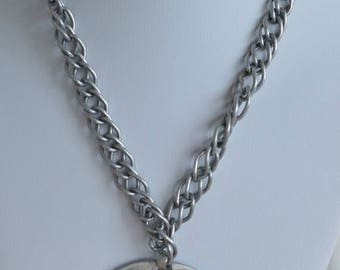 On sale Necklace Set, Bracelet, Silver tone,Vintage