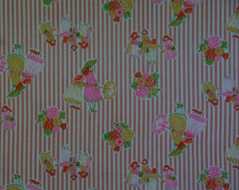 """Vintage Young Dimensions M Lowenstein Fabric 45""""X44"""""""