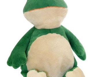 personalized baby gift, personalized plush, stuffed plush, Frog, Hip Hop, kids personalized stuffed keepsake, Embroider Buddy