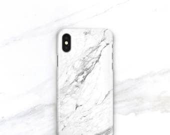 Marble Phone Case White Marble iPhone 8 Plus Case Personalized Gift