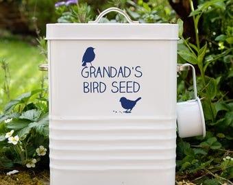 Personalised Bird Food Storage Tin