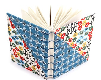Colorful Unlined Journal - handmade by Ruth Bleakley with Japanese Katazome Paper