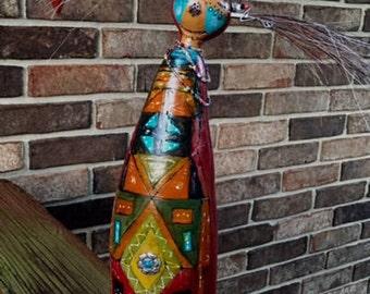 """A """"Joyful Song Spirit Doll"""" - Gourd Art"""