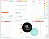 UNplan Planner Printables - PDF pages in 5 sizes - daily docket, weekly docket, undated calendars - digital download