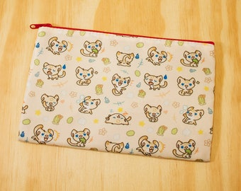 Bax the sand cat storage pouch pencil case cosmetic 3ds bag