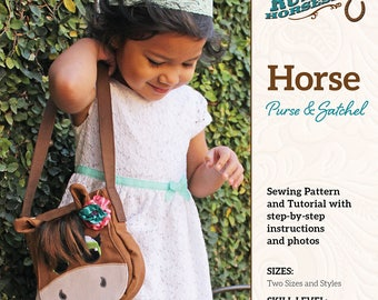 Horse Purse and Satchel Bag Sewing Pattern and Tutorial Includes Two Styles and Sizes Easy Beginner Project