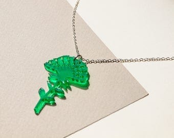 Small Emerald Green Necklace- Jewellery - Gift- Jewellery for Women Teens Young Adults - Present