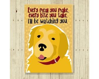 Golden Retriever Magnet, Dog Magnet, Dog Lover Gift, Fridge Magnet, Refrigerator Magnet, Funny Dog Gift, Goldie