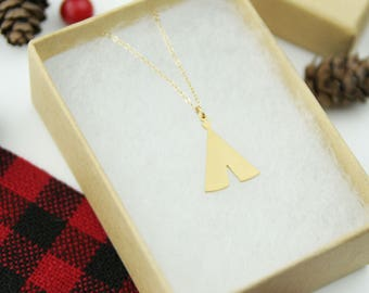 Gold Tee Pee Necklace | My Tribe Necklace | Best Friend Gift | Christmas Gift | Gold Necklace | Teepee Jewelry | Stocking Stuffer | Holiday