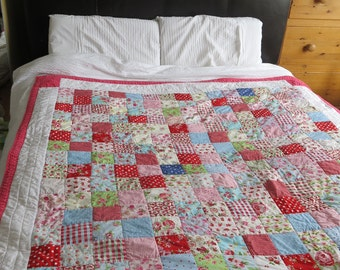 Quilt - Handmade | Etsy UK : patchwork quilt handmade - Adamdwight.com