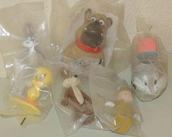 6 Vtg Fast Food Toys in Original Bags