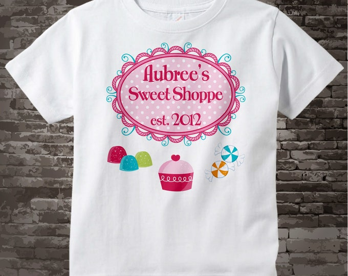 Girl's Sweet Shoppe Birthday Tee or Onesie, perfect for that sweet shop candy themed birthday party. 03152012a