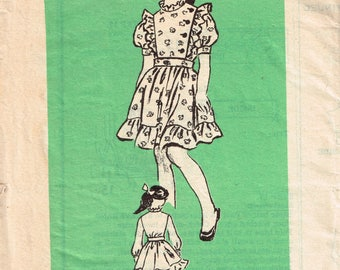 80s Girls Blouse and Skirt Pattern Anne Adams 4693 Size 6 Girls Two Piece Dress Vintage 1980s Mail Order Sewing Pattern