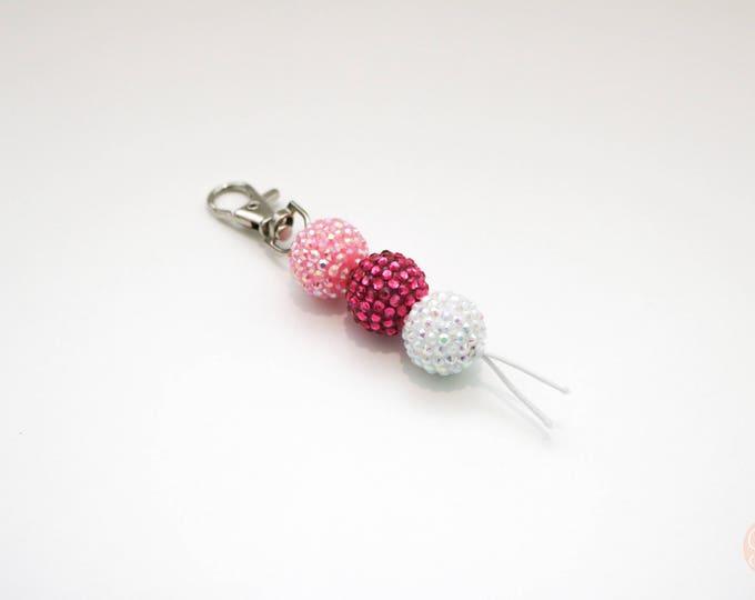 Mini Diva Beaded Keychain | Zip Pull