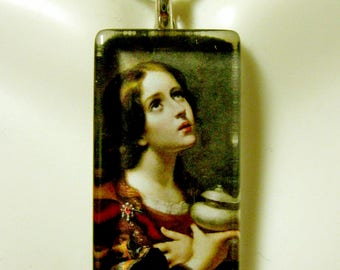 Saint Mary Magdalena pendant with chain - GP12-240
