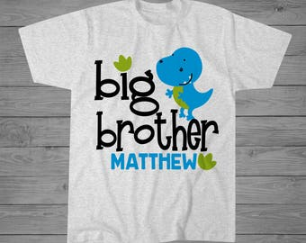 Dinosaur Big Brother T-Shirt | Big Brother Gift | Sibling Shirt | Announcement Shirt | New Brother Gift | Personalized Brother Gift