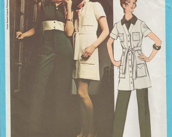 Vogue 2370 / Vintage Designer Sewing Pattern By Chuck Howard / Dress Jumpsuit / Size 12 Bust 34