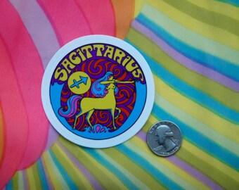 Sagittarius Sticker... 3 Inch Thick Vinyl Sticker... Zodiac Sticker