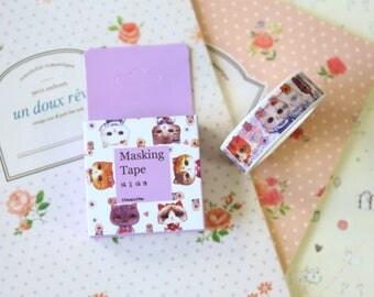 Kitty Cats Cartoon Summer Washi Masking Tape