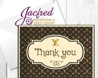 12 Designer inspired Thank you cards