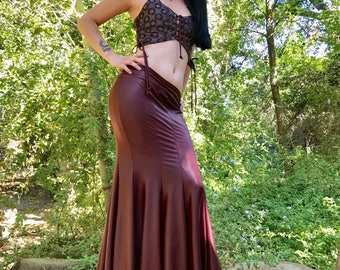 NEW: The OxBlood Red Faux (Vegan) Leather Mermaid Skirt by Opal Moon Designs (Sizes S-XL)