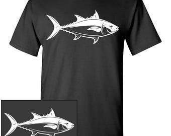 Tuna Custom T-Shirt - Men Women Youth Kids Long Sleeve Personalized Tee, bluefin fish fishing