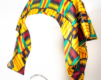 African Print Shrug Kente Print - One Size