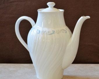 China Teapot/Camelot China/Gracious/Tea Decanter/Floral Teapot/White Teapot/1990