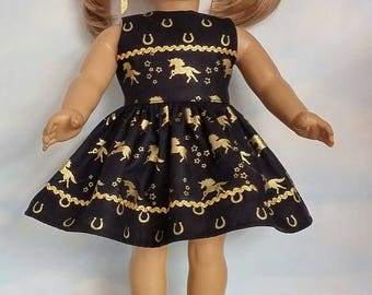 18 inch doll clothes - Horse Dress made to fit the American Girl Doll - FREE SHIPPING