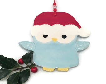 Owl Christmas Ornament - Hand Crafted