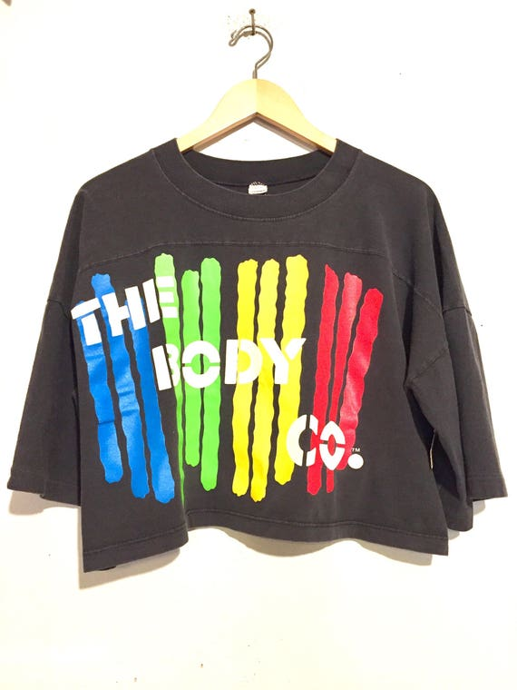 90s Vintage Oversized Cropped Colorful Graphic Tee