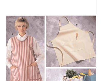 One Size Pattern - Kwik Sew Apron Pattern K2191 by Kerstin Martensson - Misses' Aprons in Two Styles, Lunchbags and Shopping Bags
