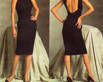 Sz 10/12/14 - Vogue Dress Pattern V2899 by GUY LAROCHE - Misses' Close Fitting Backless Dress with Ruched Detail - Vogue Paris Original