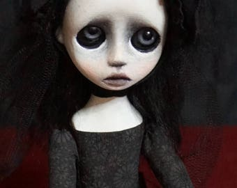 Handmade Collectible Unique -OOAK- Clay poseable Art doll -Cleo