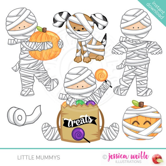 Little Mummys Cute Digital Clipart Commercial Use OK