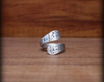 This too shall pass ring, Sterling silver ring, Motivational jewelry