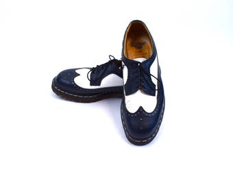 Original Dr. Marten Wingtips, Made in England, Size 12 UK - Size 13 US