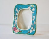 Vintage Takahashi San Francisco Porcelain Picture Frame - Hand Made in Japan - 1980s Vintage Photo Frame - Gift for Mother's Day - 80s Gift